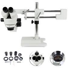 3.5X-90X Simul-Focal Zoom Trinocular Stereo Microscope Dual Arm Boom Adjustable