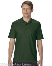 Size XL Gildan 43800 FOREST GREEN Performance Short Sleeve Mens Polo Shirt Poly