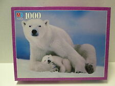 Polar Bear Mother and Cub Jigsaw Puzzle, 1000 Pieces, NIB