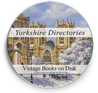 Books Yorkshire Directory Genealogy Research DVD Family Tree History Records 258