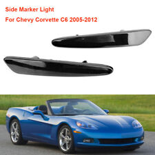 For Chevy Corvette C6 2005-2012 Pair Front Driver NSF Side Marker Light Black