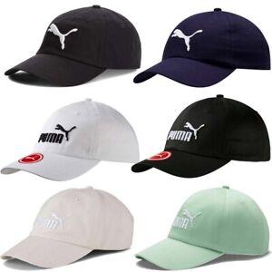 Puma Mens Baseball Golf Cap Logo Curved Peak 100% Cotton Hat Adjustable Cap
