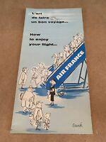 AIR FRANCE dépliant L'art de faire un bon voyage illustrations de SEMPE Vintage