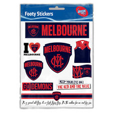 Melbourne Demons AFL LOGO Car Sticker Sheet School Christmas Birthday Gift