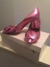 Emporio Armani Metallic Pink Pumps Size 38/8