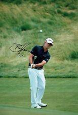 Brian HARMAN SIGNED 12x8 Photo 3 AFTAL Autograph COA USA Golf Wells Fargo Winner