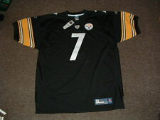 BEN ROETHLISBERGER #7 STEELERS BLACK HOME AUTHENTIC FOOTBALL JERSEY sz 54 NWT