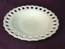 * Indiana Glass Co Milk Glass Lace Edge Bowl Candy Dish Nut Dish