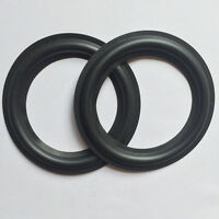 "2 pcs High Quality 5.25"" 130mm Speaker Replacement Surround Repair Rubber Edge"