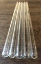 Borosilicate 11 Inch Long 12mm Od 8mm 2mm Glass 5pc Blowing Tubes No Fire Finish