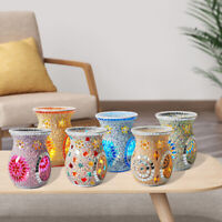 Mosaic glass Oil Burner Tealight Candle Holder Wax Melt Warmer Home Decor