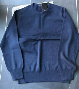 "Paul Smith  ""LONDON""  Navy Blue LS Crew neck Sweater"