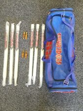 Mcc Sagar Regulation Size Cricket Stumps Set of 6 W/ Bails and Duffel Sports Bag