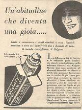 W4217 COLGATE - Un'abitudine che diventa una gioia... - Pubblicità del 1930 - Ad