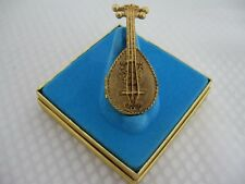 Vintage Solid Perfume in the Form of a Mandolin in the Box unused