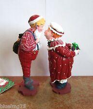 Dept 56 All Through The House I Saw Mama Kissing Santa Claus Set of 2 NIB Pi7