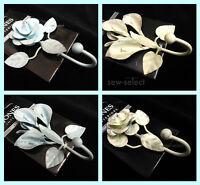 Rose Lily shabby chic curtain tassel hooks small tie back garden door wall hook