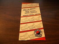 AUGUST 1953 NORTHERN PACIFIC NORTH COAST LIMITED LUXURY SUPER COACHES BROCHURE