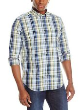 NWT Nautica Men's Long Sleeve Plaid Shirt Blue Yellow NWT Size 2XL