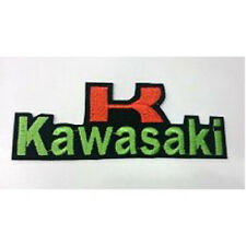 Kawasaki Motorcycle Rider Bikers  Embroidered Sew/Iron On Patch Patches