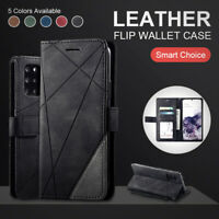 Book Leather Wallet Phone Case For Samsung Galaxy S20 + Ultra S10 S9 S8 S7 Cover