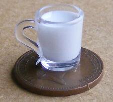 1:12 Scale Plastic Glass Of Milk Dolls House Kitchen Accessory Mug Drink HW