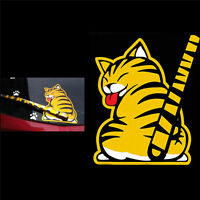 Funny Cat Moving Tail Stickers Window Wiper Decals Rear Windshield Decor NTFD