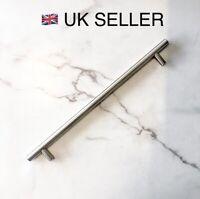Silver t Bar Door Cabinet Handle 256mm Kitchen Wardrobe Bathroom Shaker modern