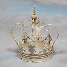 Large Decorative Antiqued White Iron Crown - 30 x 20 x 20 cm - NEW!