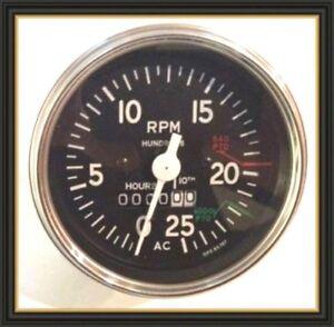 Allis Chailmers Tractor Tachometer 180 185 200 210 220,190XT Gas / Diesel