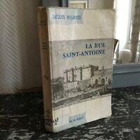 Jacques Hillairet LA RUE SAINT-ANTOINE Les éditions de Minuit 1970