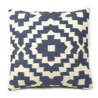Fair Trade Samarkand Kilim Cushion Covers Handwoven Wool/Cotton Sofa Decor