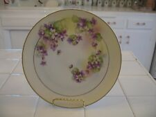 BEAUTIFUL ROYAL RUDOLSTADT PRUSSIA HAND PAINTED DECORATIVE PLATE WITH VIOLETS
