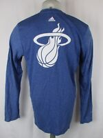 Miami Heat Men's adidas Aeroknit climacool Blank Front T Shirt Blue NBA