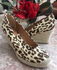 6ab39326e68 New J. Crew Seville Women Leopard Print Espadrilles Wedges Shoes Sz 9 Ret.   128