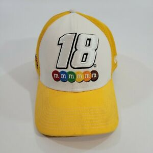 KYLE BUSCH #18 M&M NEW ERA 39THIRTY FITTED Hat YELLOW SIZE L/XL NEW