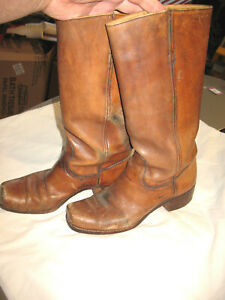 L@@K! Awesome 1970s Classic Frye Woman's Campus Boots  9B VGood+