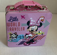 Disney's Minnie Mouse Metal Box Lunch Box Little World Traveler Tin Box Co