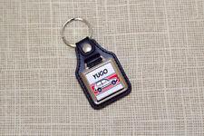 Yugo 45 Keyring - Leatherette & Chrome Zastava Keytag