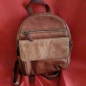 VISCONTI Real leather in Tan colour Backpack