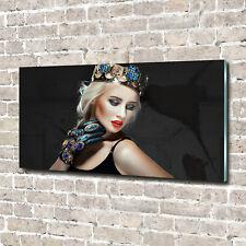 Wandbild aus Plexiglas® Druck auf Acryl 140x70 Menschen Frau mit Krone