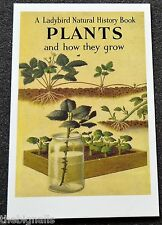 Ladybird Book Cover Postcard Plants and how they grow NEW