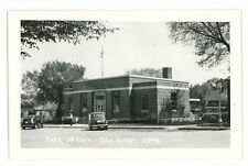 RPPC Post Office in SAC CITY IA Vintage Iowa Real Photo Postcard