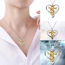Prayer Jewelry Gifts Jesus Pendant Heart Shape Silver Chain Cross Necklace