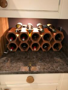 wine rack - stackable  -terracotta, sets of 3, to hold 6 bottles