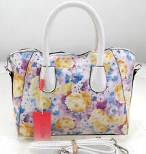 Ladies Floral Print Oilcloth Grab Bucket Summer Bag Cross Body Bag Shoulder Bag
