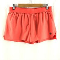 Asics Womens Running Shorts 3.5in Woven Pull On Moisture Wicking Coral Size L