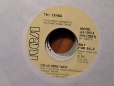 PROMO RCA 45 RECORD 10051/THE KINKS/ I'M IN DISGRACE/ MONO/STEREO/ NR MINT