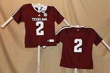 TEXAS A&M AGGIES  Adidas #2 FOOTBALL JERSEY Womens Large NWT $55 retail