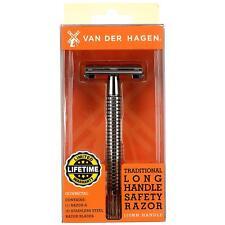 Van Der Hagen - Double Edge Long Handle Safety Razor, 5 Blade, Chrome Brass